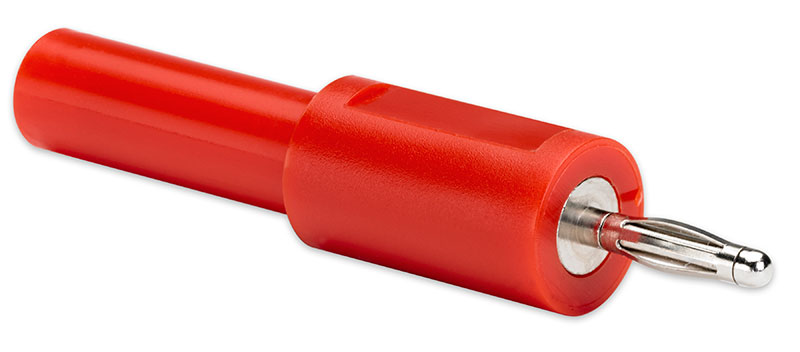 PICO-TA307 Shrouded 4 mm to 2 mm jack adaptor (Red)