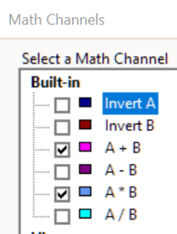 Maths Channel A plus and minus B