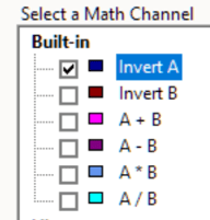 Maths Channel Invert A